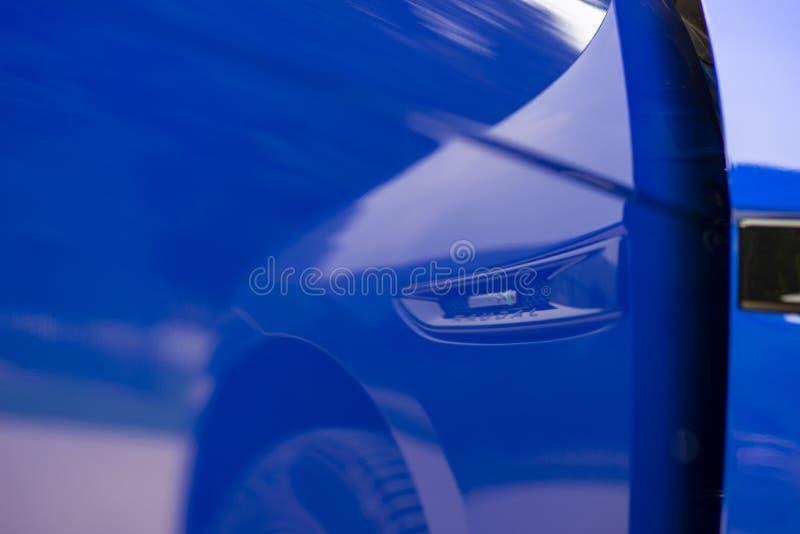 BLUE JAGUAR SUV F-PACE R-SPORT royalty free stock photo