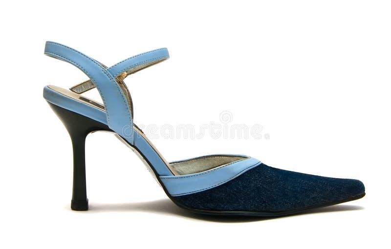 Blue Jean Shoe Royalty Free Stock Photo