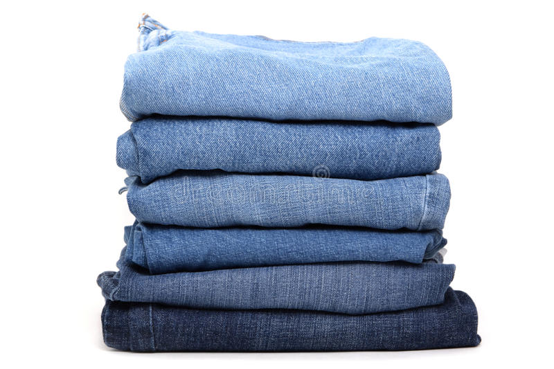 Download Blue Jeans stock image. Image of white, folded, fashion - 27033195