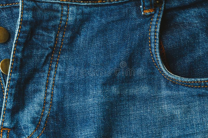 Blue jeans background, Pants denim with unbuttoned fly. Close up stock photography