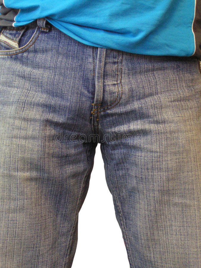 Download Blue jeans and blue shirt stock photo. Image of tough - 1400310