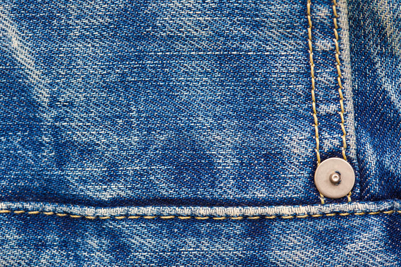 Blue jeans, close up stock photo