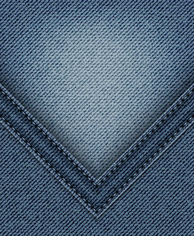 Blue jeans con l'angolo illustrazione vettoriale