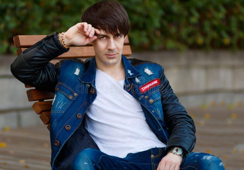 Blue, Jeans, Denim, Jacket stock images