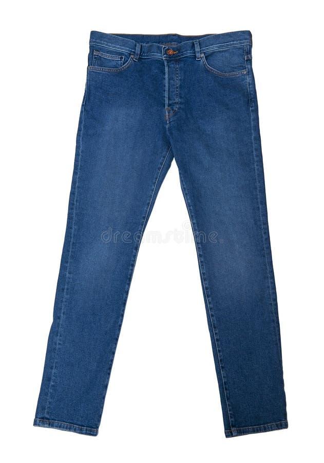 Blue Jeans getrennt auf Weiß lizenzfreies stockfoto