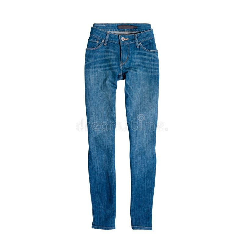 Blue Jeans getrennt auf wei?em Hintergrund Art und Weisekonzept stockbilder