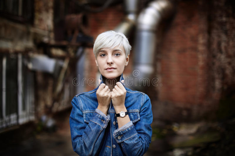 Blue jeans girl stock images