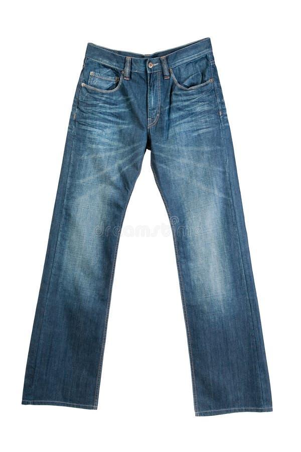 Blue jeans isolate su bianco fotografia stock libera da diritti
