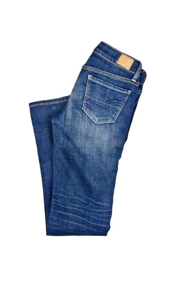 Blue jeans isolate su bianco fotografia stock