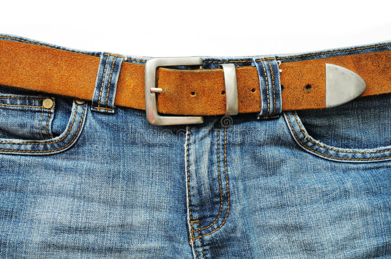 Download Blue Jeans And Leather Belt Royalty Free Stock Image - Image: 6344726