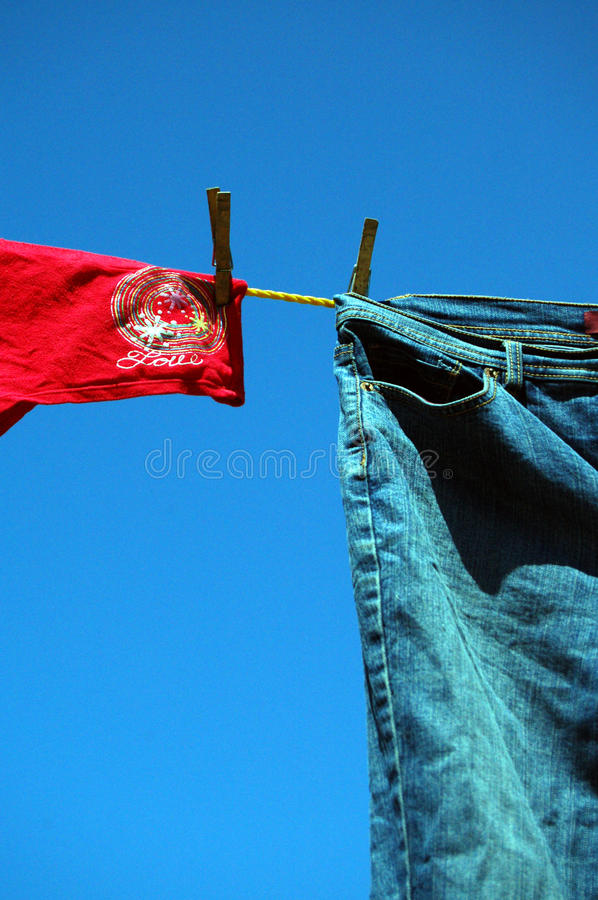 Blue Jeans and Love stock image
