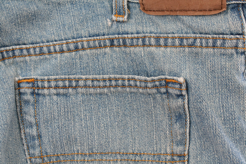 Blue Jeans Tag Royalty Free Stock Photo