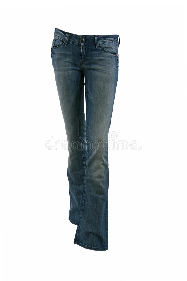 Blue jeans trousers royalty free stock photography