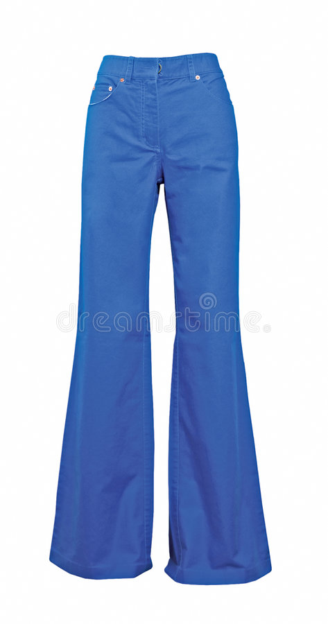 Blue jeans trousers stock photo