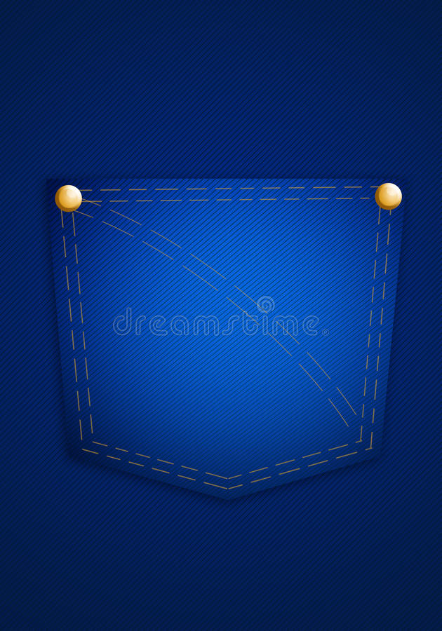 Blue Jeanstasche vektor abbildung