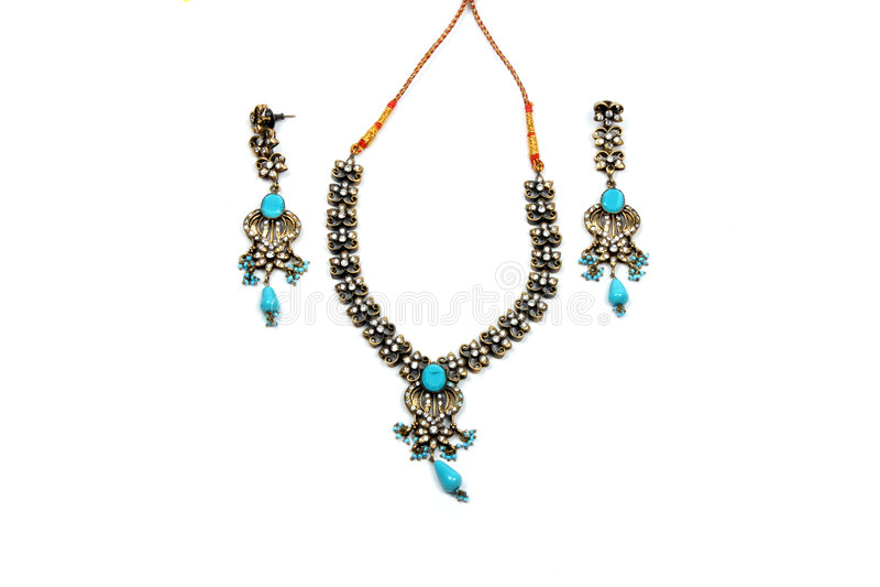 Blue Jewelery Set stock photo
