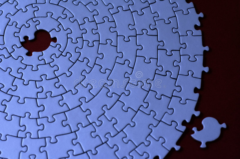 Download Blue Jigsaw With One Missing Piece Laying Aside Stock Photo - Image of object, backdrop: 557564