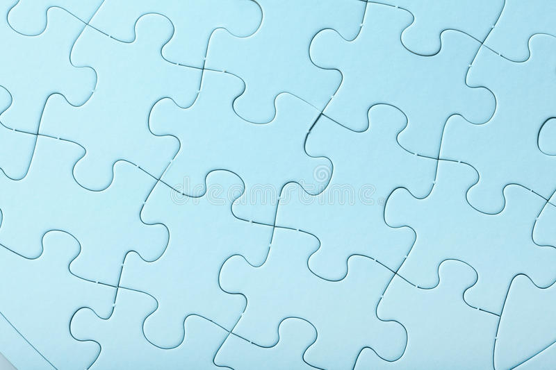 Download Blue Jigsaw puzzle stock image. Image of blue, metaphor - 26610245