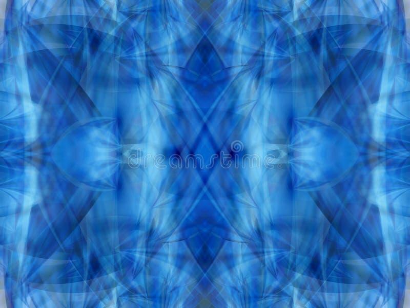 Blue kaleidoscope 3 vector illustration