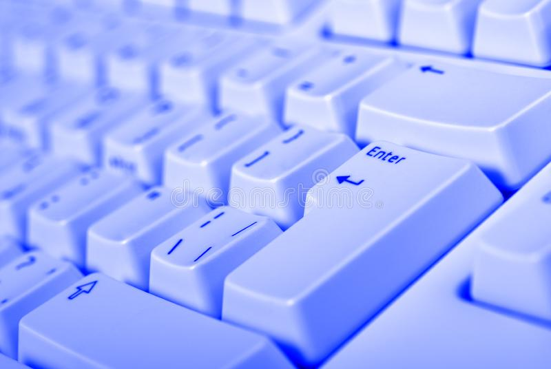 Blue keyboard royalty free stock images