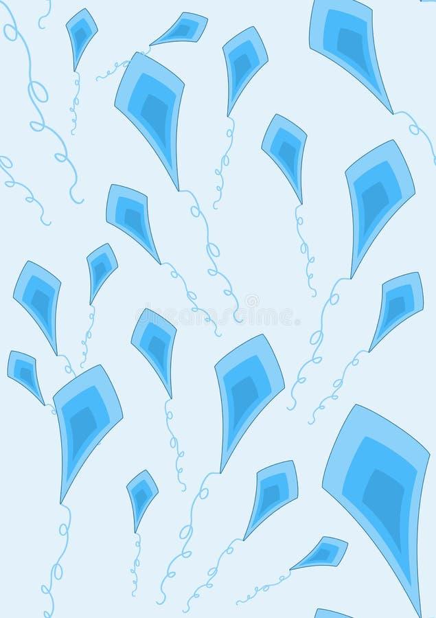 Blue Kites Wallpaper Royalty Free Stock Photos