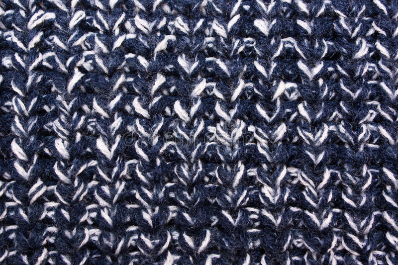 Blue knitted texture. Blue White knitted texture. Wool jersey background. English elastic pattern stock image