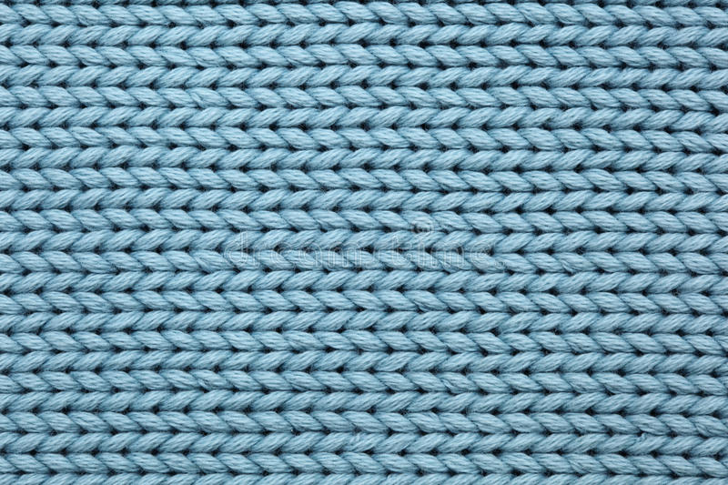 Blue Knitted Textured Background Royalty Free Stock Photography