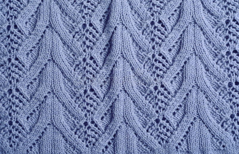 Blue knitted woolen royalty free stock photography