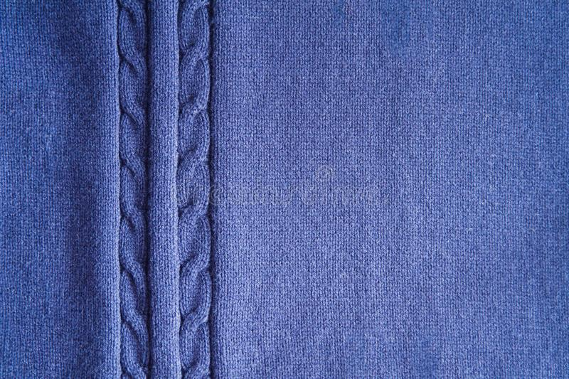 Blue knitting texture background or knitted pattern background. Knitting or knitted background stock photography