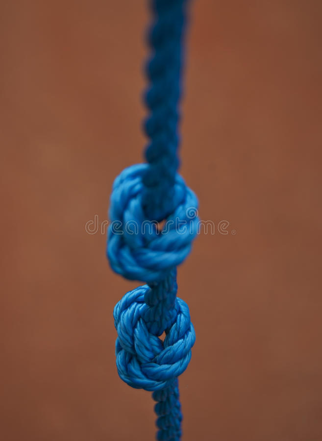 Download Blue knot stock image. Image of hitch, knot, cord, rope - 25735187
