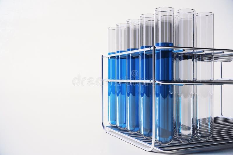 Blue lab backdrop vector illustration