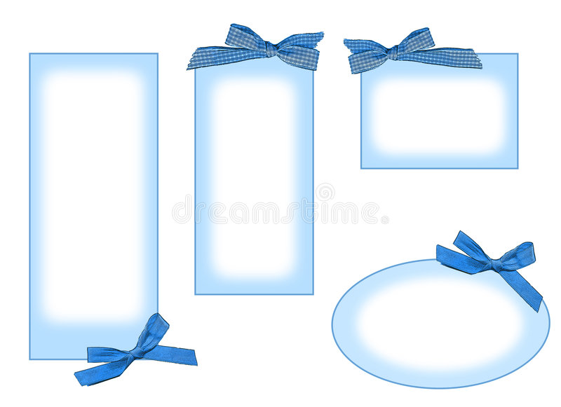 blue labels royalty free stock photo