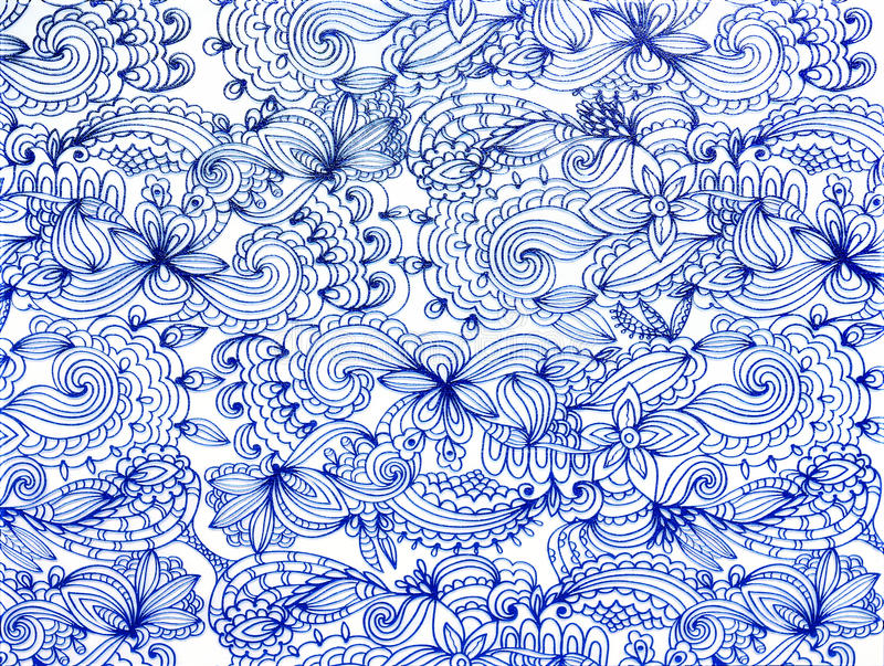 Blue lace pattern. In the form of flowers royalty free stock photo