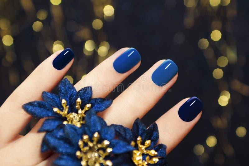 Blue lacquer. stock photos