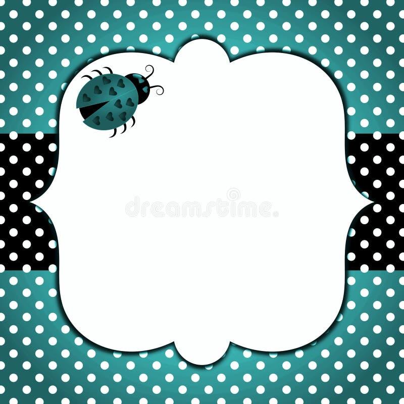 Blue ladybug fathers day card stock illustration