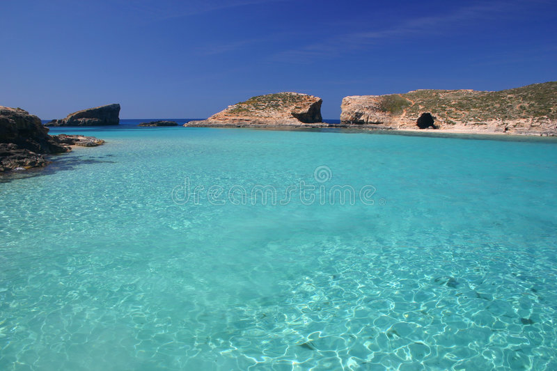 Blue lagoon royalty free stock images