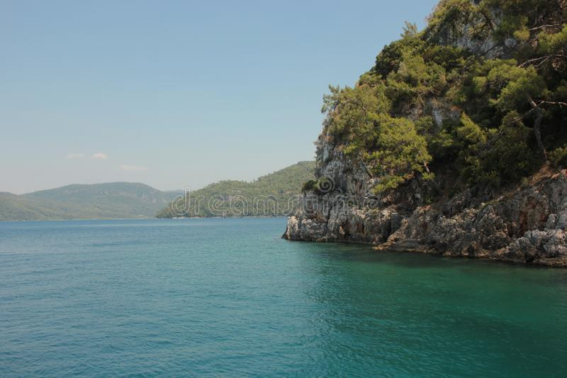 Blue lagoon in the Aegean Sea. royalty free stock photography