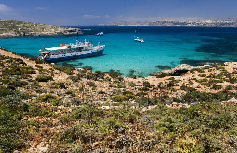 Blue Lagoon - Comino - Malta Stock Photo