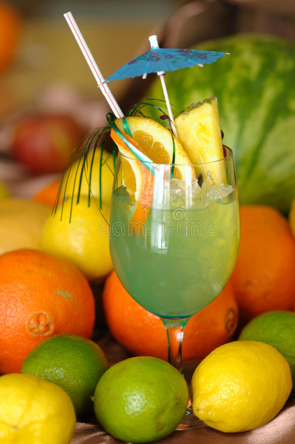 Blue Lagoon Drink stock images
