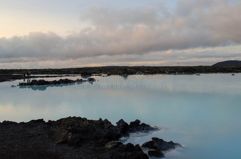 Blue Lagoon at dusk royalty free stock photography