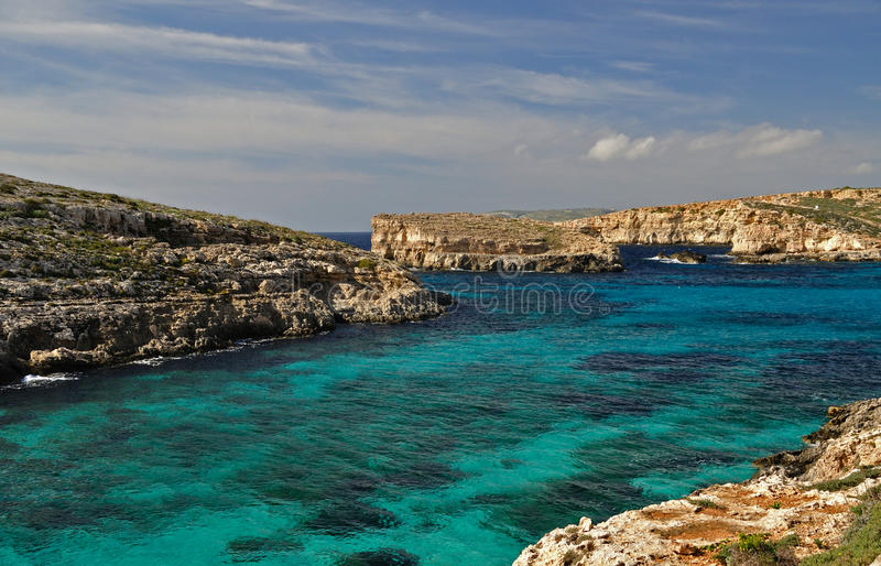 Download Blue lagoon - Malta stock image. Image of cloud, blue - 20750841