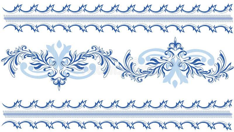 Blue lai Patterns stock image