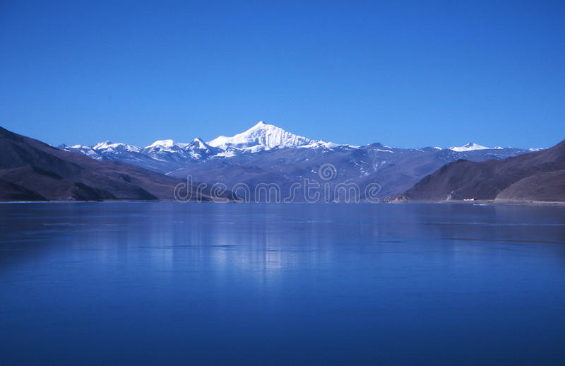 Blue lake royalty free stock images