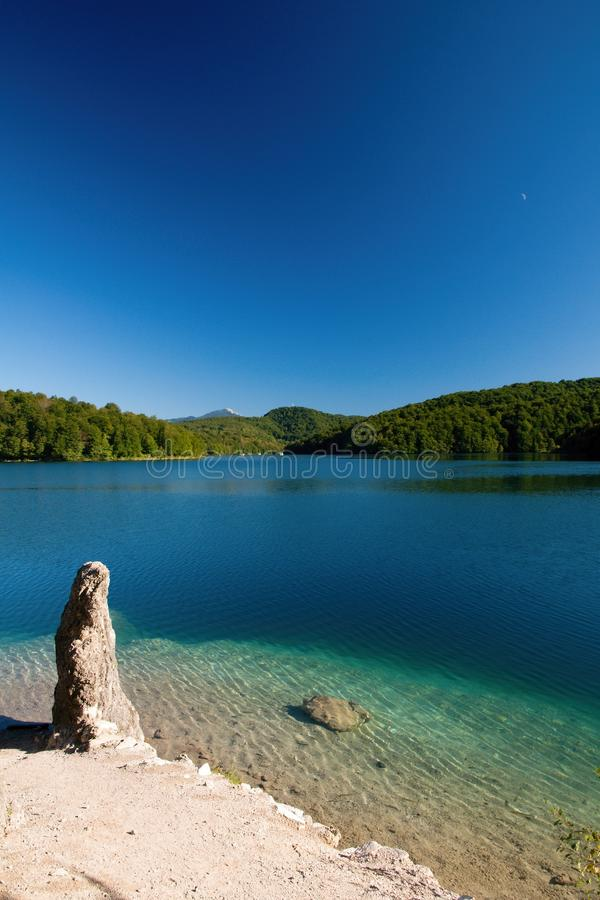 Download Blue lake stock photo. Image of lakes, moon, europe, lika - 27442042
