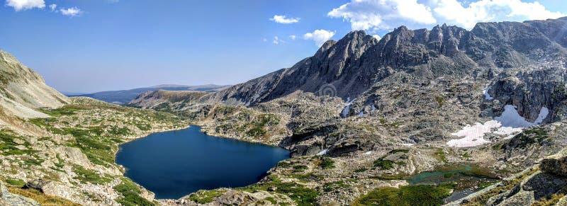 Blue lake in Colorado stock photos