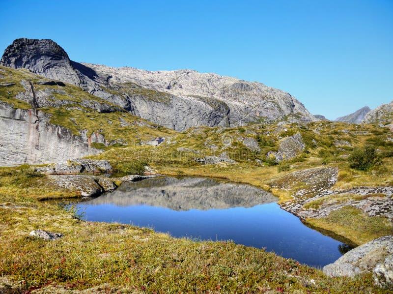 Blue Lake in Mountains royalty free stock photos