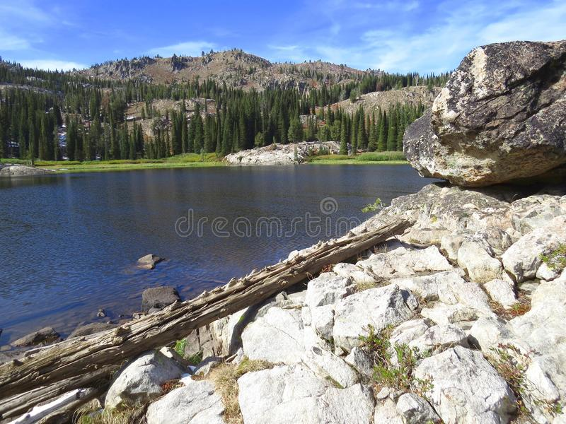 Blue Lake in Mountains of Idaho royalty free stock images