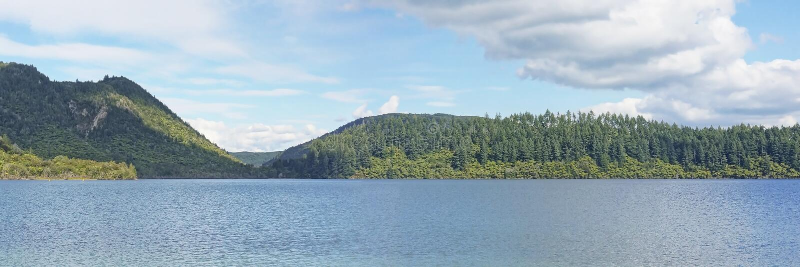 Blue Lake, Nouvelle-Zélande, Panoramique images stock