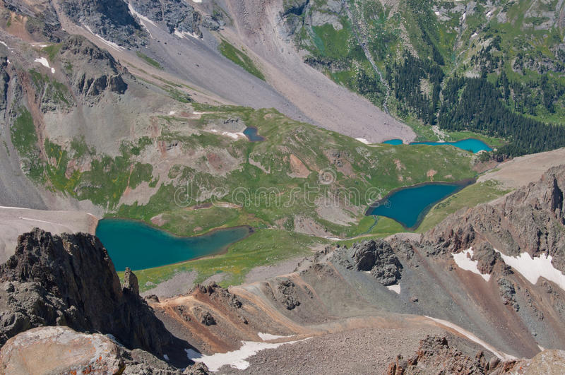 Blue Lakes Near Telluride Colorado Mountain Wilderness royalty free stock images