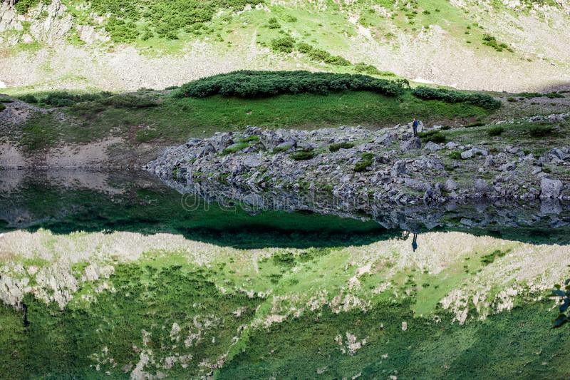 Blue Lakes, Kamchatka royalty free stock photos